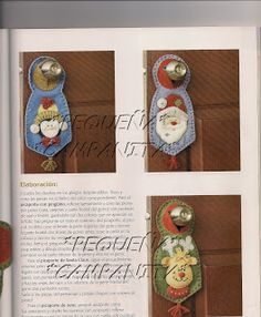 navidad con patrones: Renos Navideños Sewing Dolls, Bottle Opener, Christmas Holidays, Santa, Anime, Craft, Log Projects, Holiday Ornaments, Primitive Christmas