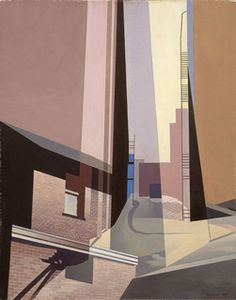 Charles Sheeler: Across Media Charles Sheeler (American, New England Irrelevancies 1953 Oil on canvas Museum of Fine Arts, Boston, Gift of William H. and Zoe Oliver Sherman Fund. Charles Sheeler, Charles Demuth, Pop Art, Post Painterly Abstraction, Hard Edge Painting, Urban Painting, Art Moderne, Urban Landscape, City Landscape