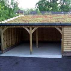 Green roof carport/garage. I want to build this!