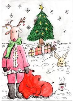 Christmas illustration by Sara Neves Cottoncandy's Family