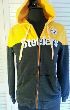 2b9c7e20110 NFL Pittsburg Steelers Women s Hoodie Full Zip Football Medium Nfl  Sweatshirts