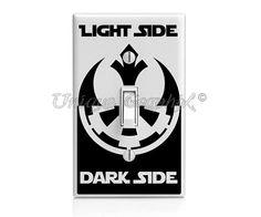 Star Wars Inspired Light Side Dark Side vinyl by UniqueGraphix