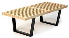 modern wood bench - Buscar con Google