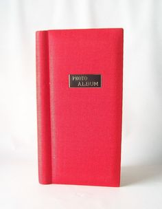 vintage photo album red tweed picture by RecycleBuyVintage on Etsy, $8.00