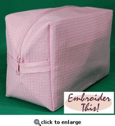 Large Waffle Cosmetic Bag by ET