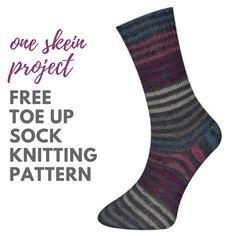 Toe Up Socks Free Knitting Pattern