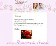 Hochzeitswebseiten.  Wedding websites for internationale Weddings.