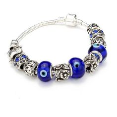 Glass Beads Antique Silver Crystal Bracelet ($6.32) ❤ liked on Polyvore featuring jewelry, bracelets, skull bangle, flower bracelet, skull bead bracelet, beaded jewelry and crystal bead bracelet