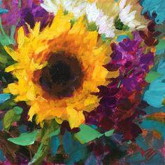 "Daily+Paintworks+-+""Sunflower+Freedom""+-+Original+Fine+Art+for+Sale+-+©+Krista+Eaton"