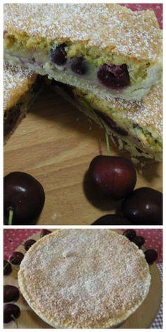 Torta di ciliegie, una vera delizia! #ricettegustose #torte #ciliegie