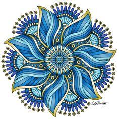 55 Best Ideas For Tattoo Watercolor Abstract Blue Mandala Tattoo Mandala Art, Mandala Design, Mandala Painting, Mandala Drawing, Mandala Pattern, Dot Painting, Indoor Crafts, Abstract Watercolor, Tattoo Watercolor