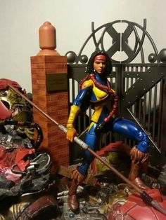 Moonstar (Marvel Legends) Custom Action Figure by masterpiece Base figure: Hellcat