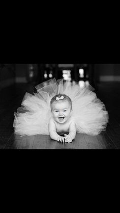 Tutu and a baby! Great picture idea!                                                                                                                                                                                 More