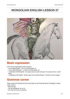 Mongolian english lesson 37