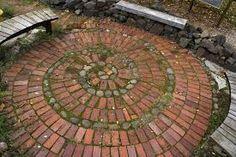 Image result for brick spiral garden