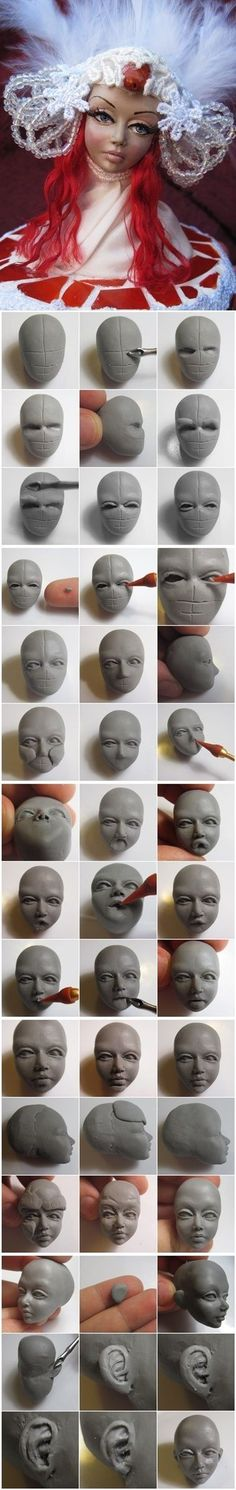 polymer clay faces 3                                                                                                                                                                                 More