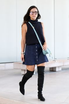 Over the knee boots and skirts for the Fall