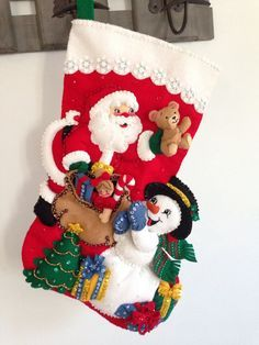 Finished 18 Bucilla Christmas stocking lined by JillianBCreations