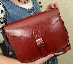 Retro oiled leather girls Women Bag Clutch Handbag door Love1220, $19.50