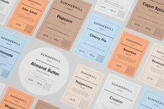 Summerhill Market Branding Graphicdesign Packaging Visual Identity Logodesign by Blok Design Toronto Canada Mindsparkle Mag Event Branding, Corporate Identity Design, Brand Identity, Visual Identity, Logo Branding, Ästhetisches Design, Logo Design, Label Design, Brand Design