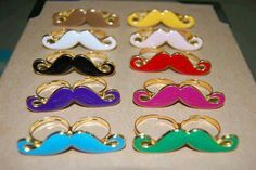 Mustache rings in any colours