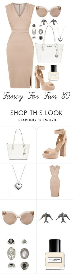 """""""Fancy For Fun 80"""" by megan-walz21 ❤ liked on Polyvore featuring MICHAEL Michael Kors, Stuart Weitzman, Pandora, Oasis, Linda Farrow, Blackbird and the Snow, Topshop and Marc Jacobs"""