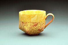 Lauren Karle. Cup. Earthenware, handbuilt.