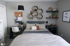 Bedroom Ideas for Young Men Decorating for young adults Bachelor Bedroom decoration ideas Grey Bedroom ideas Boy Bedroom Ideas Neutral colors for a boy bedroom Boys Bedroom Decor, Room Ideas Bedroom, Small Room Bedroom, Bedroom Ideas For Small Rooms For Adults, Mens Room Decor, Small Bedroom Interior, Young Mans Bedroom, Young Boys Bedroom Ideas, Adult Bedroom Ideas