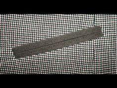 Как сделать Прорезной карман с листочкой Technique Welt Pocket - YouTube