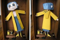 Coraline With Button Eyes Paper Doll - by Dark In The Dark        From 2009`s animation coraline, here is the paper model of the coraline doll with Button Eyes, created by designer Dark In The Dark.
