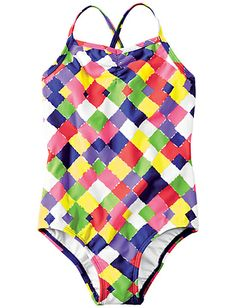 Crossback One Piece from Hanna Andersson   #girlsswim  @Hanna Andersson Andersson #bestmomevercontest
