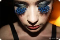 #Peacock Eyelashes, #Makeup, #Cosmetics