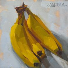 Werner Fine Art: Nanner, Nanner, Nanners -a still life painting in . Fruit Painting, Gouache Painting, Painting & Drawing, Painting Flowers, Painting Videos, Painting Abstract, Painting Tips, Contemporary Art Daily, Contemporary Abstract Art
