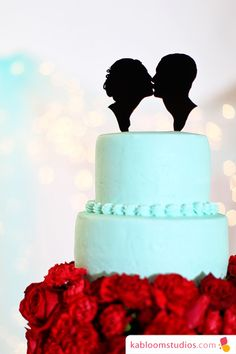 Custom Silhouette Cake Topper from Simply Silhouettes http://www.etsy.com/shop/Silhouetteweddings