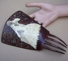 Vintage hair comb Spanish comb faux by ElrondsEmporium on Etsy AVAILABLE NOW IN MY ETSY SHOP $60