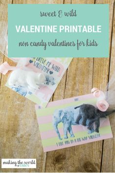 Wild Valentine Cards Sweet and Perfect for classroom and preschool parties! Homemade Valentines Day Cards, Valentines Day Party, Valentines For Kids, Valentine Cards, Valentine Day Crafts, Teacher Cards, Free Printable Gift Tags, Valentine's Day Printables, Candy Cards