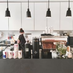 Cool clean coffee space