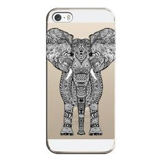 iPhone 6 Plus/6/5/5s/5c Case - AZTEC ELEPHANT CRYSTAL CLEAR (50 AUD) ❤ liked on Polyvore featuring accessories, tech accessories, phone cases, phones, capas de iphone, iphone case, iphone 5 cover case, apple iphone 4 case, iphone cases and aztec print iphone 4 case