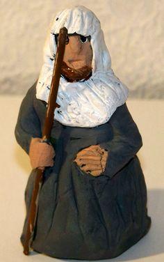 Figurki do szopki z modeliny - pasterz