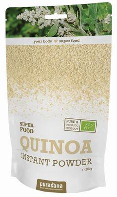 purasana QUINOA Instant White Powder 200 Gramm