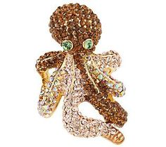Kirks Folly Embrace Me Sparkle Octopus Ring - QVC.com