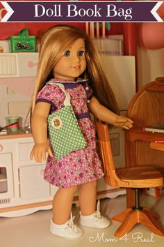 DIY::A Book Bag for an American Girl Doll - Mom 4 Real