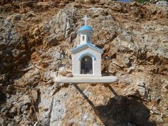 Roadside shrines are found all over the Greek Islands - this is on the island of Lipsi on the road to Psili Ammos beach