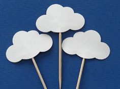 Amazon.com: White Cloud Cupcake Toppers - Baby Shower Food Picks - Party Picks - Appetizer Picks - Baby Boy Baby Girl Shower - Baby Sprinkle (Set of 24): Handmade