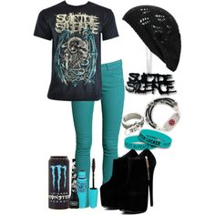 """""""As Your Body Starts To Die You'll Remember Every Little Thing Away I Watched You Suffocate I Watched You Suffocate And Die..."""" by batmanjayy on Polyvore"""