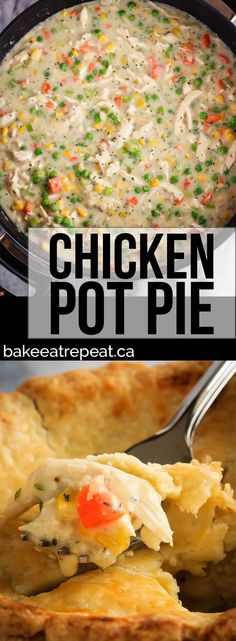 This homemade, from scratch chicken pot pie is super easy to make. One of our favourite meals, this easy chicken pot pie is comfort food at it's finest! Chicken Pot Pie Filling, Chicken Pot Pie Recipe From Scratch, Chicken Pop Pie, Chicken Pot Pie Recipe Crock Pot, Healthy Chicken Pot Pie, Chicken Pot Pie Casserole, Chicken Meals, Best Chicken Recipes, Pot Pie Recipes