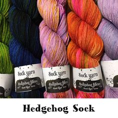 Hedgehog Sock Hedgehog Fibres, 2018 Color, Sock Yarn, Hand Dyed Yarn, Project Yourself, Unique Colors, Needlework, Knitting Patterns, Fiber