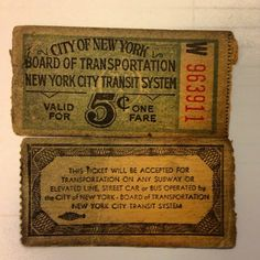 Old NYC Subway Tickets...so cool!