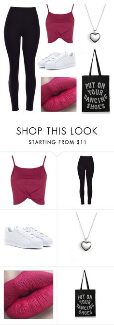 """""""Dance lessons today"""" by belenyy ❤ liked on Polyvore featuring Topshop, adidas, Pandora and ALPHABET BAGS"""