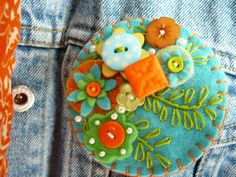 Felt brooch-I have a few of these brooches.  Purchased them in Stillwater, MN.
